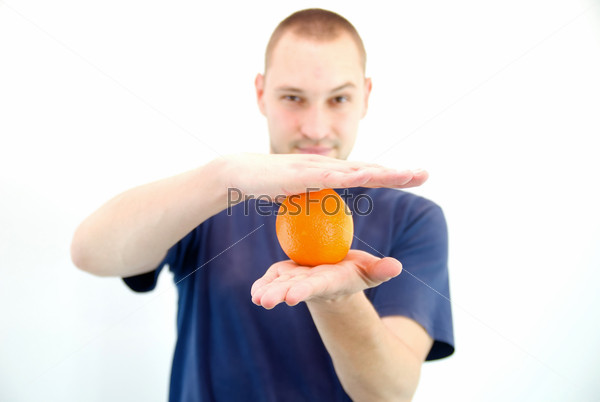 man with orange