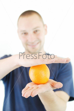 man with orange