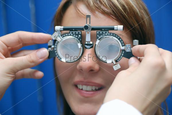 patient at oculist