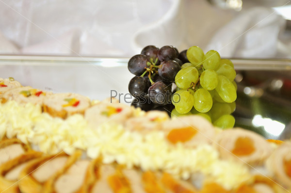Food, fresh, health, vegetarian, eating, cheese,  grape, fruit,