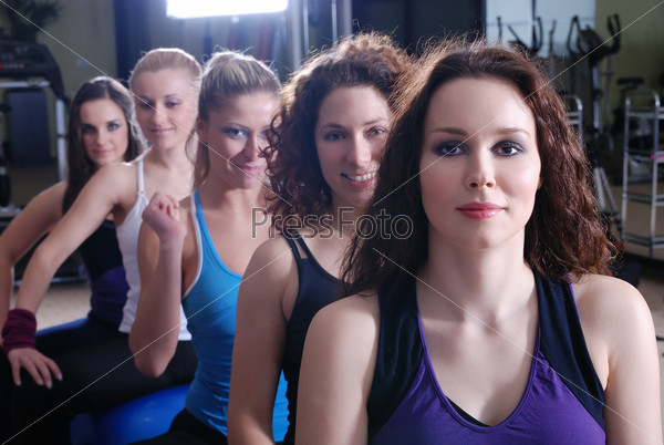 Girls in fitness studio