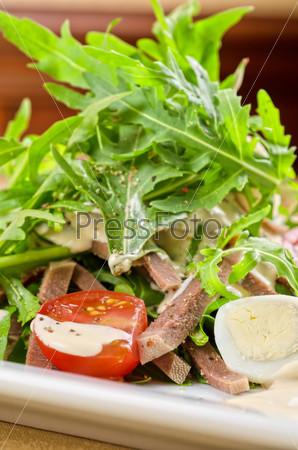 Tasty salad of beef tongue
