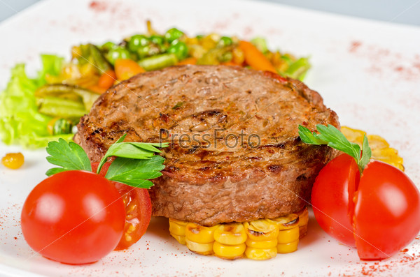 Beef steak meat
