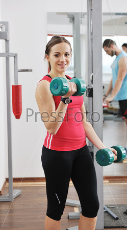 woman fitness workout with weights