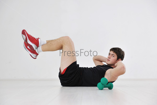 man fitness workout