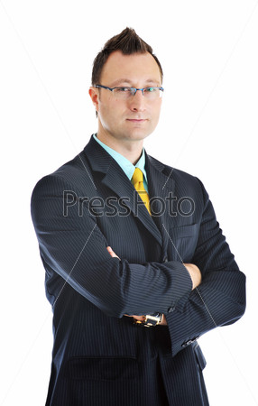 one young businessman isolated