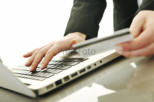 business woman making online money transaction