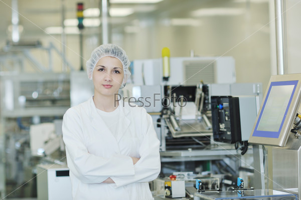 woman worker in pharmacy company