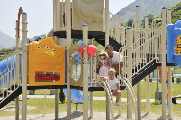 family portrait at park
