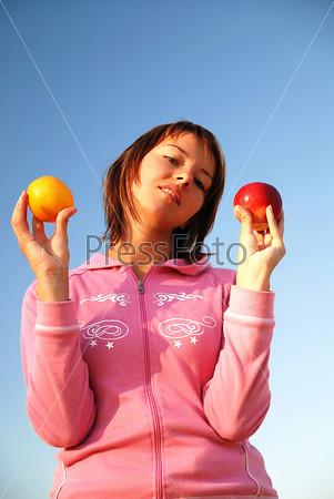 healthy food balancing...