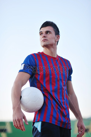 soccer player portrait
