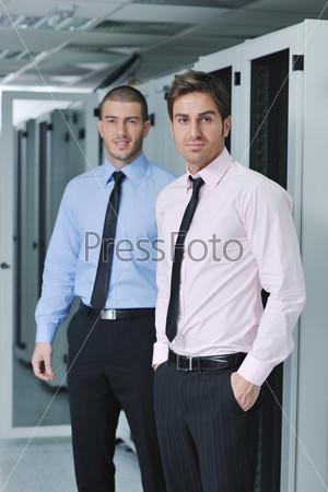 it engineers in network server room