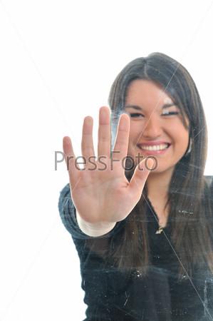 woman hand screeen