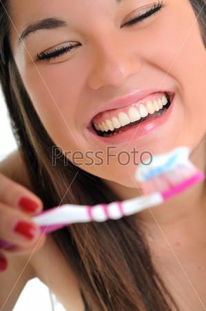 woman dental care