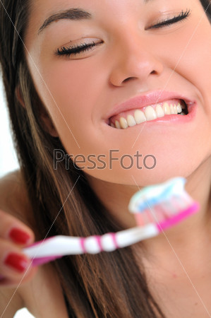 woman dental care
