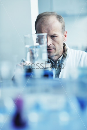 research and  science people  in laboratory