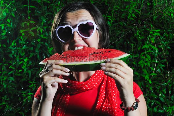 woman watermelon