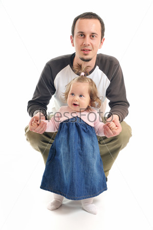 father baby isolated
