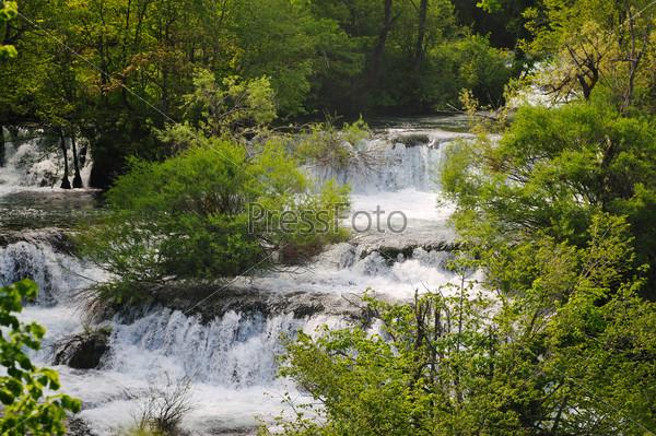 river waterfall wild