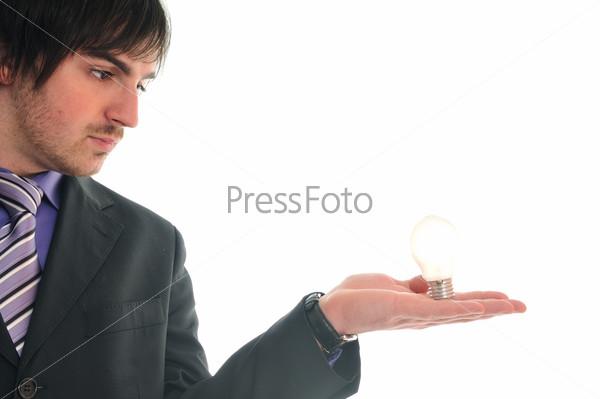 bulb business man