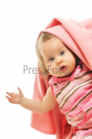 baby blanket isolated