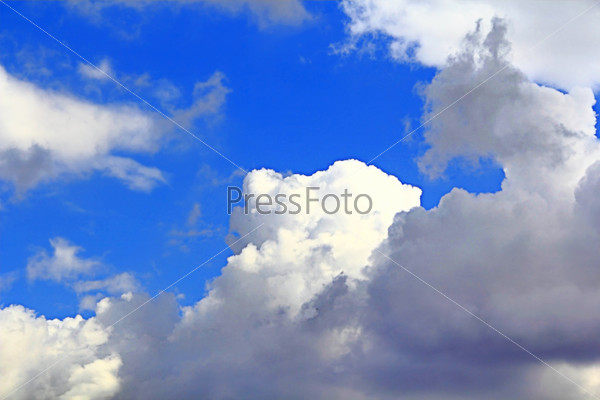 Image of summer fluffy sky