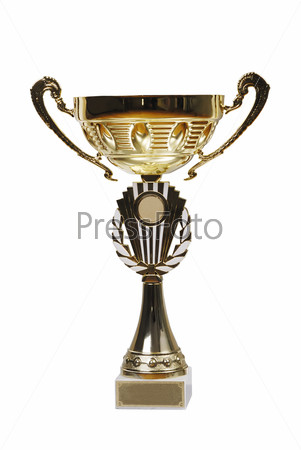 Large golden trophy