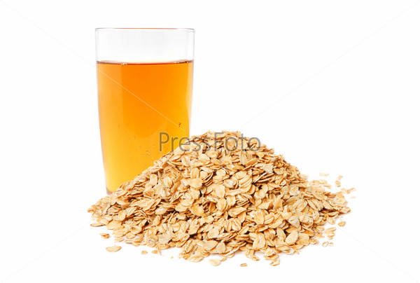 Apple juice and oat flakes