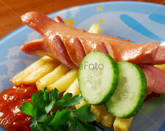 Sausages with vegetables