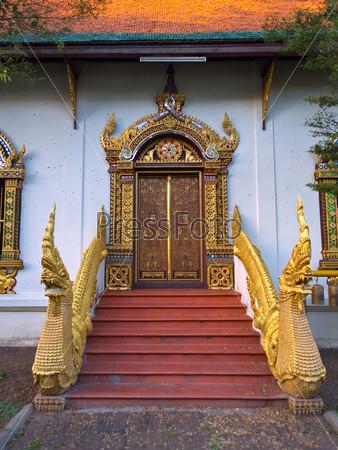 Entrance door of asian temple