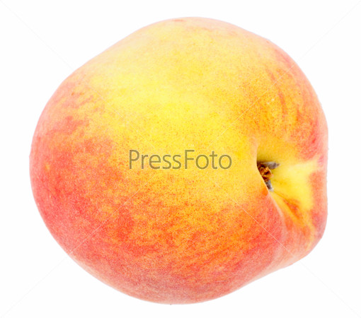 Single a fresh red-yellow peach