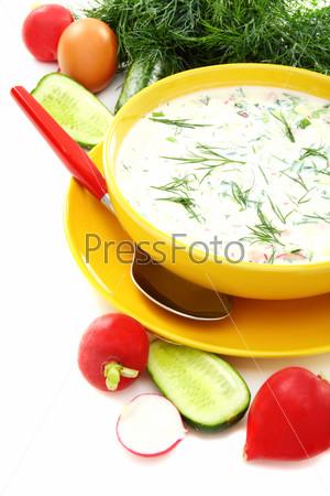 Cold summer soup kefir