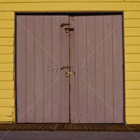 Yellow and ferra doors