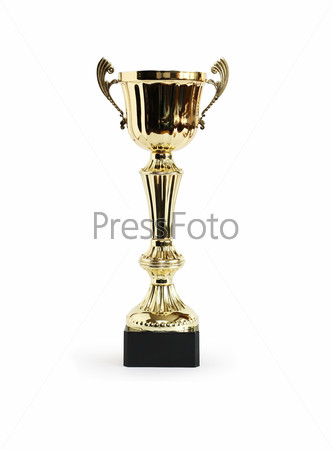 Award Cup On White