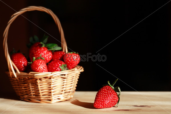 Basket With Strawberries