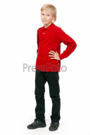 Portrait of a boy aged 10 years