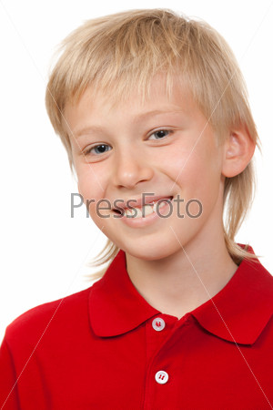 Portrait of a boy aged 10 years