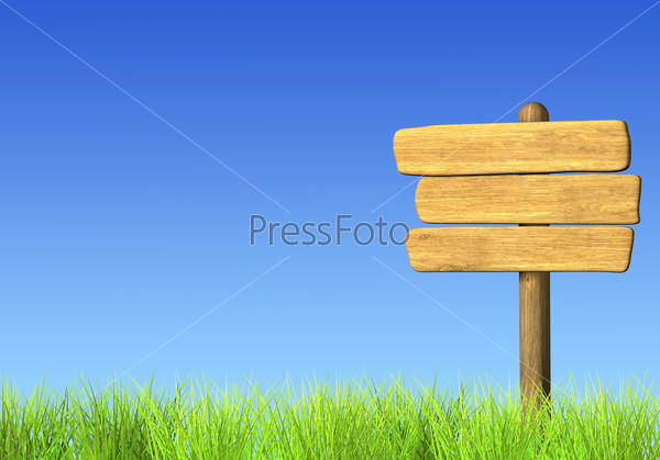 Старый деревянный дорожный указатель