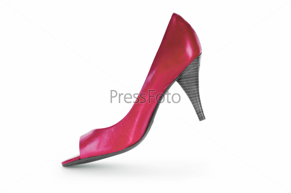 Red female shoes in fashion concept