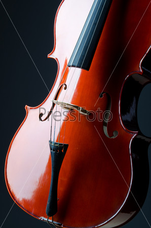 Music concept- close up of cello