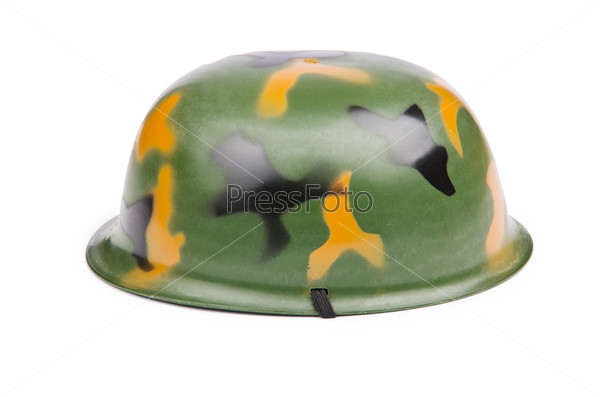 Military helmet isolated on the white