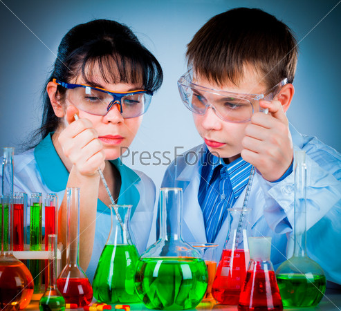 schoolteacher and student