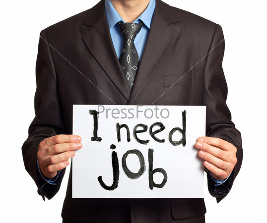 Businessman a need job