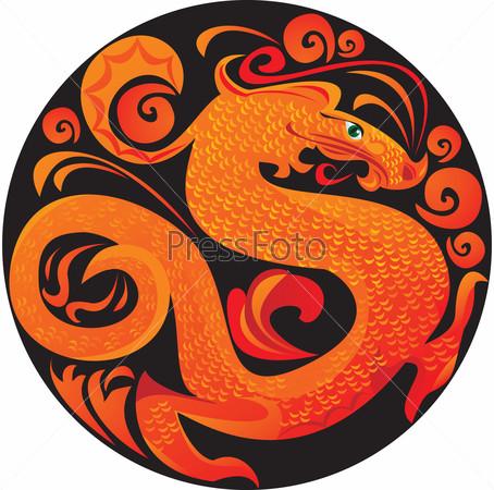 Дракон в круге