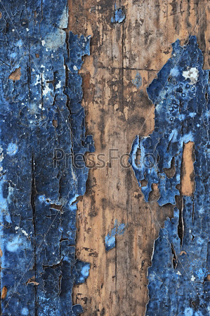 Obsolete weathered cracked painted wood grunge background