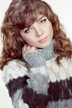 Teenage Girl Portrait wearing winter clothes