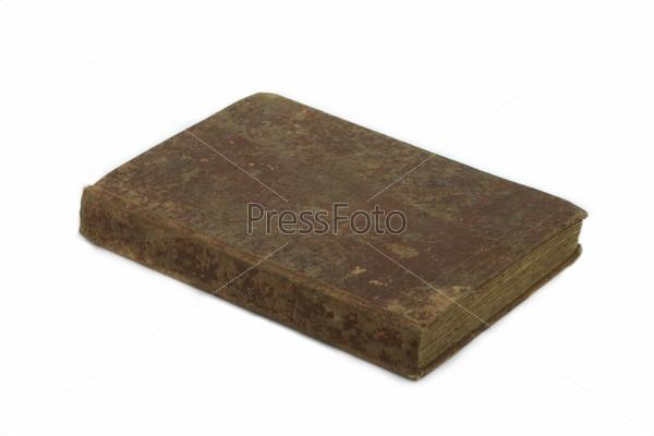 Старая книга на белом фоне