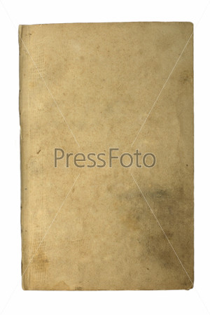 Старая страница из книги на белом фоне