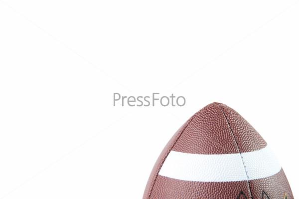 Мяч для американского футбола, место для текста, белый фон