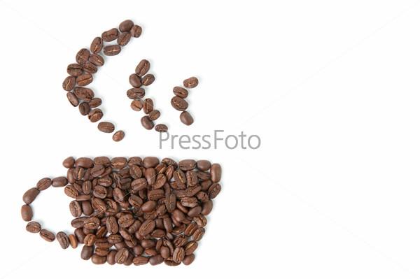 Кофейные зерна в виде чашки